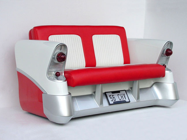 56 CHEV CAR COUCH   $2795