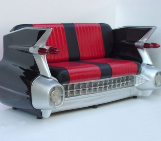 1959 CADDY CAR COUCH (BLACK) $2995