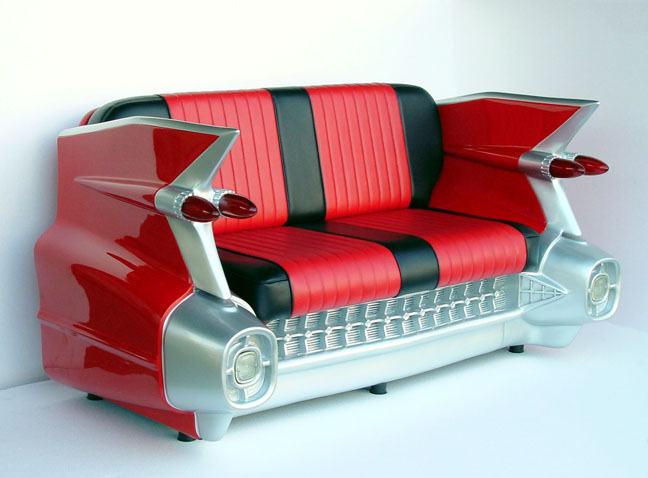 1959 CADDY CAR COUCH (RED) $2995